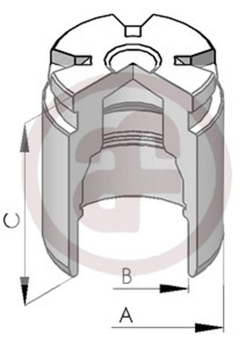 small resolution of sentinel rear brake caliper piston 34mm d02578 audi ford renault seat vw