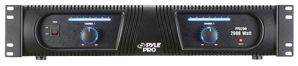 Channel 2000w Professional Power Dj Amplifier 2u Rack Mount Amp