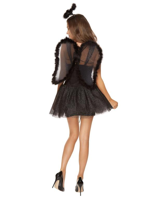 Ann Summers Womens Sexy Angel Black Party Costume