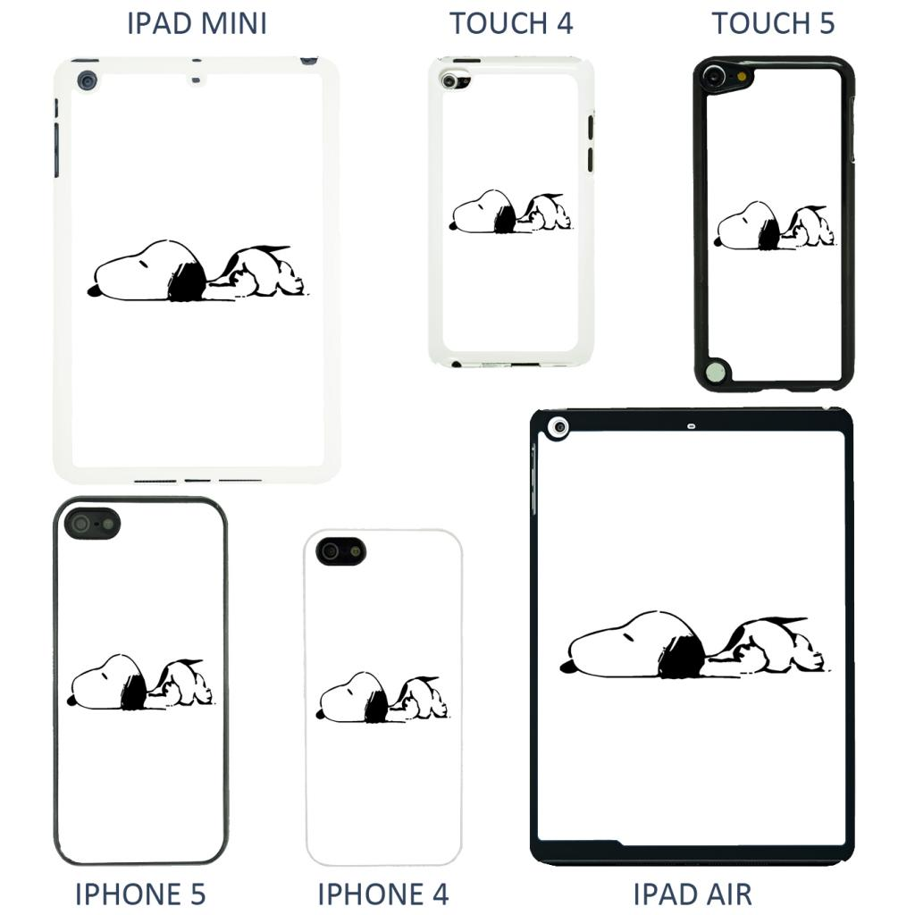 Snoopy Cartoon cover case for Apple iPhone iPod & iPad