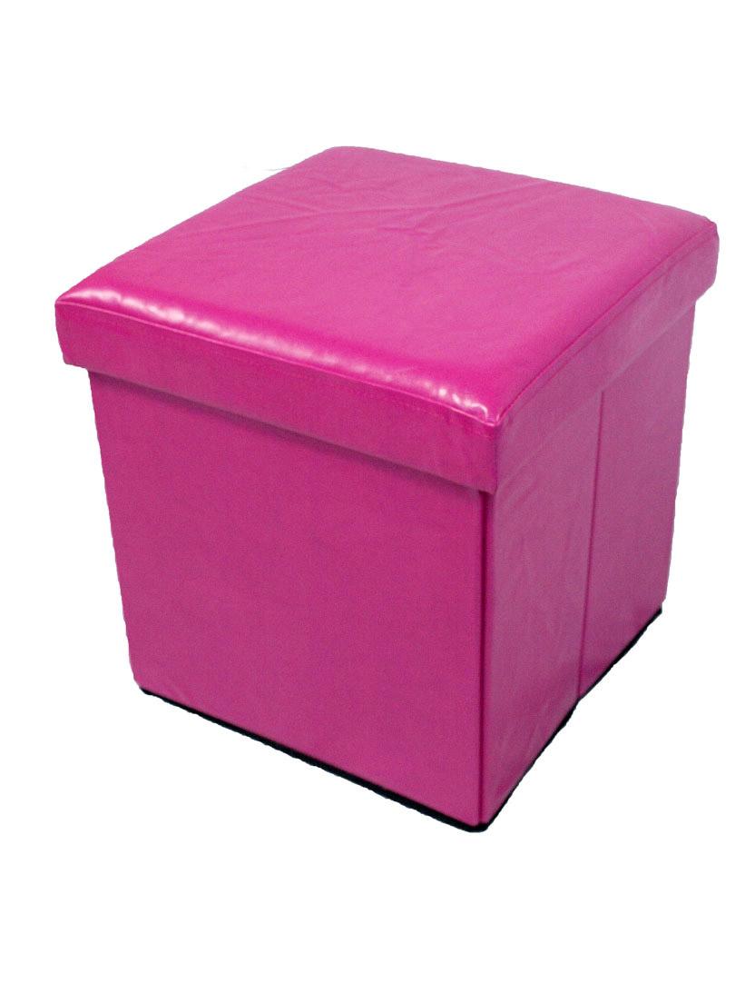 christmas folding chair covers swivel chairs jordans /multi purpose faux leather ottoman storage box/chair in cerise | lancashire textiles