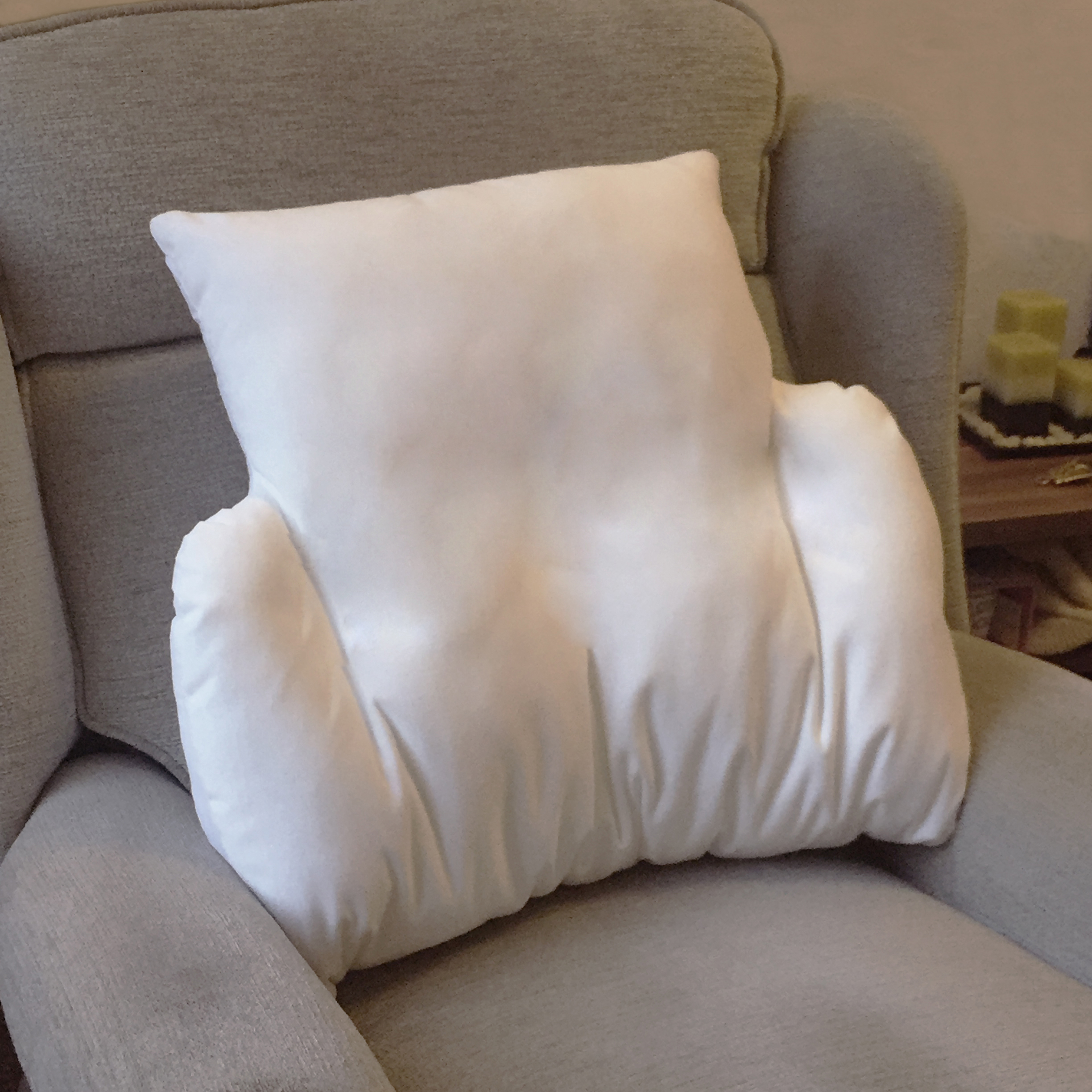Replacement Cover for Velour Fleece Lumbar Support Cushion