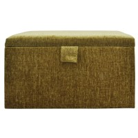 Chenille Style Ottoman Storage Box with Hinged Lid - 2 ...
