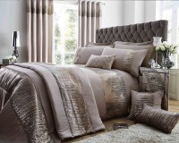 Antionette Collection Matt Satin and Sequin Bedding Set in ...