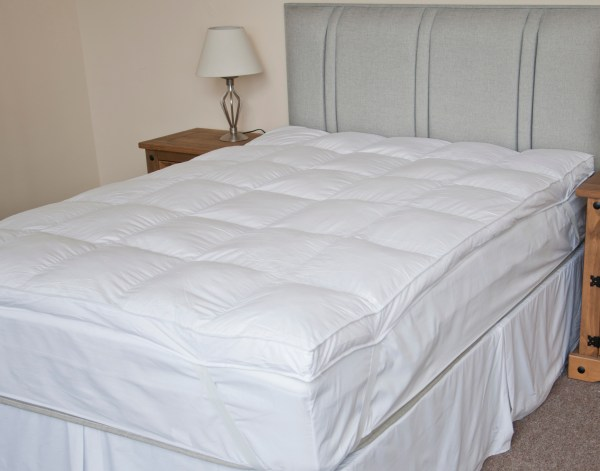 King Size Luxury Cotton Extra Thick Duck Feather Mattress