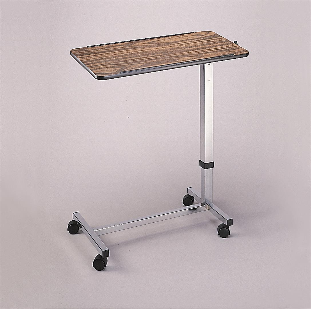 over chair tables uk x back chairs black easy rise portable and adjustable mobile table wheeled