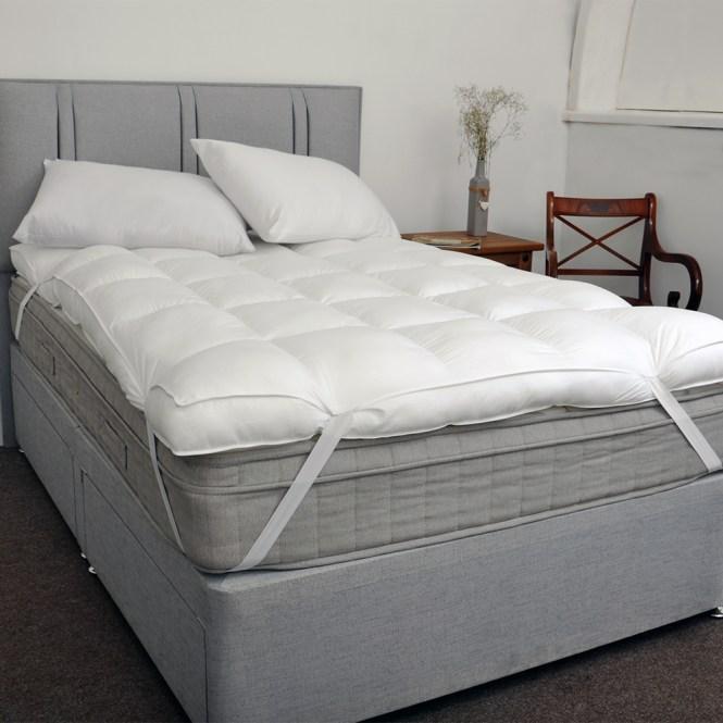 Sentinel Extra Thick Luxurious 100 200tc Cotton 10cm 4 Inch Mattress Topper Soft Enhance