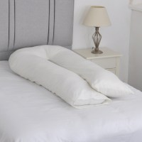 Large U Shape Body Support Pillow with FREE Ivory ...