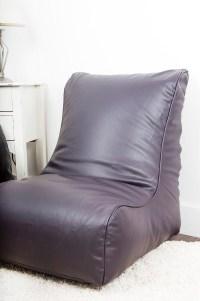 /Leather Look Gaming Chair/ Bean Bag in Aubergine ...