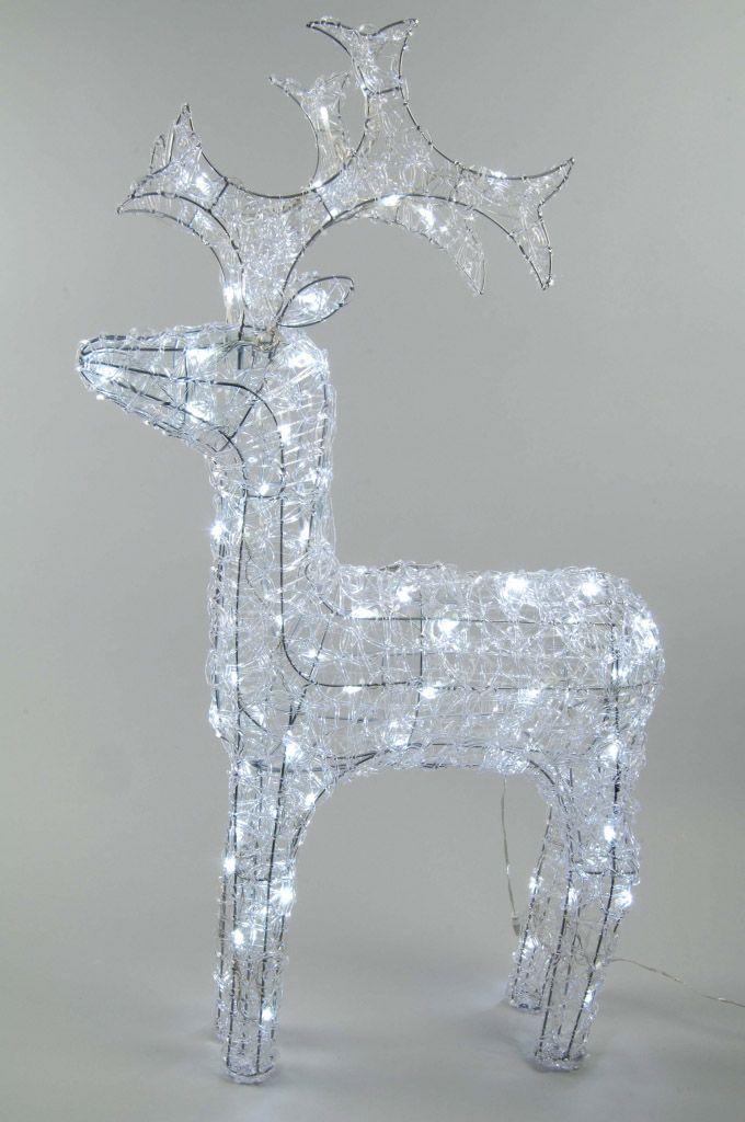 Kaemingk LED Outdoor Acrylic Reindeer 90cm Cool White – 9499530