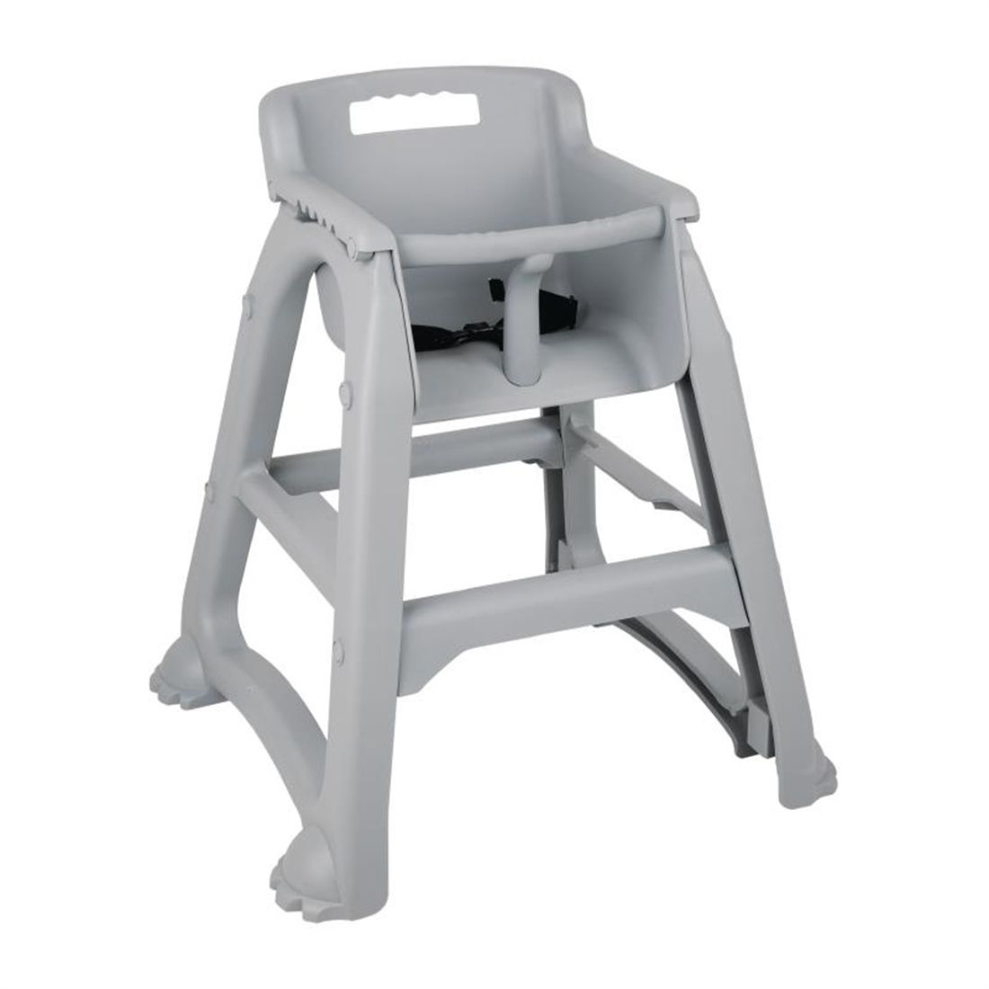 Easy Clean High Chair Details About Bolero Grey Pp Stackable High Chair Next Working Day Uk Delivery