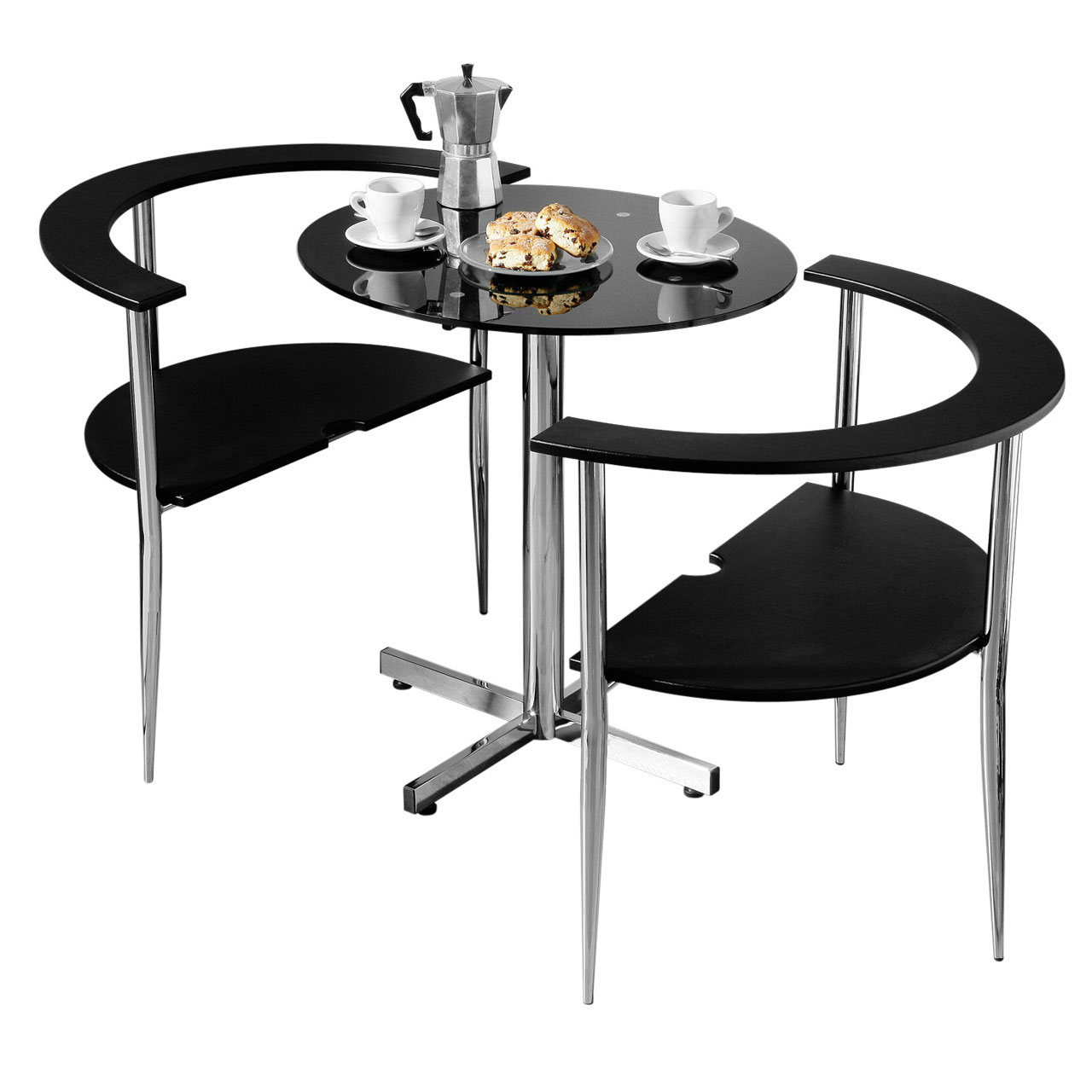 Table With 2 Chairs Details About 3pc Round Love Dining Set Black Tempered Glass Table Top 2 Chairs Home Furniture