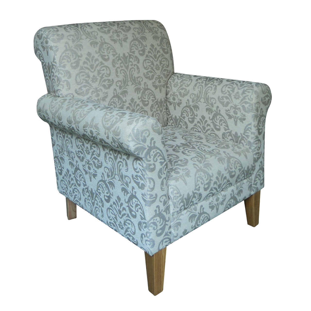 Damask Chair Details About Armchair Polyester Rubberwood Natural Damask Print Sofa Lounge Chair Furniture