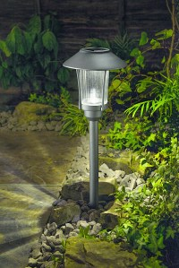Cole & Bright Solar Post Lights, LED Pathway Garden Lamps ...