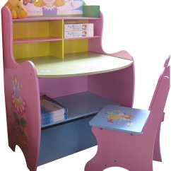 Kids Desk Chairs Uk Lifetime Chair Covers Ivory Childrens Wooden Writing Storage Fairy Bedroom