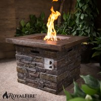 Outdoor Garden Firepit Royal Fire Square Fire Pit Gas ...