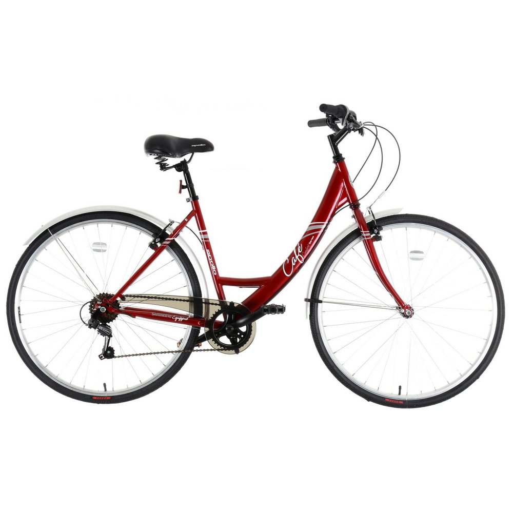 Apollo Cafe Womens Ladies Hybrid Bike Steel Frame 6 Speed