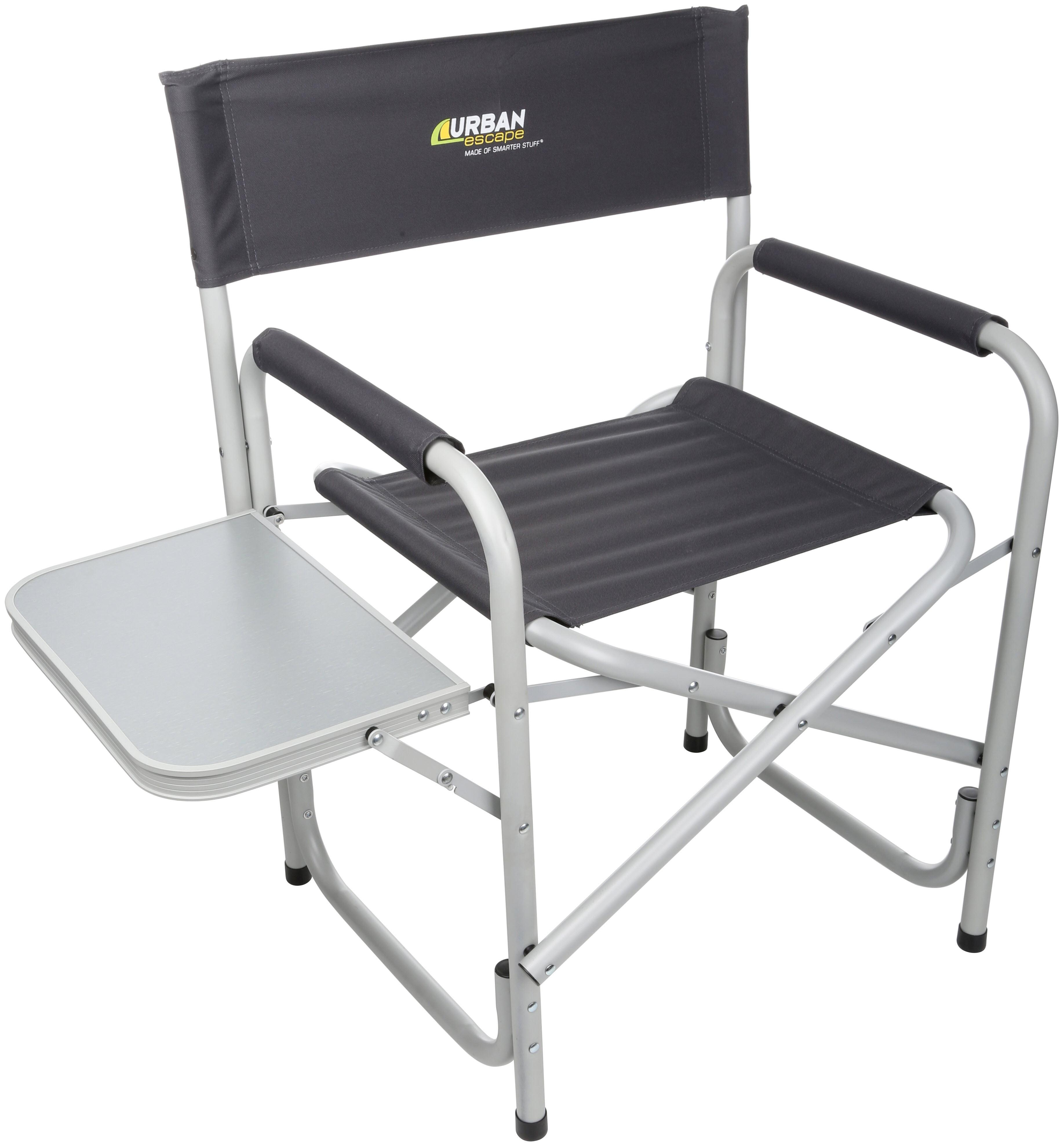 Directors Chair With Side Table Urban Escape Outdoor Travel Camping Picnic Garden Director