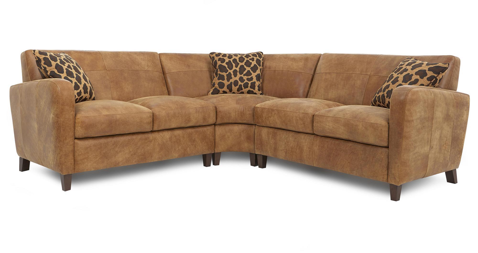 sofa half leather sleeper sale safari natural set inc corner armchair