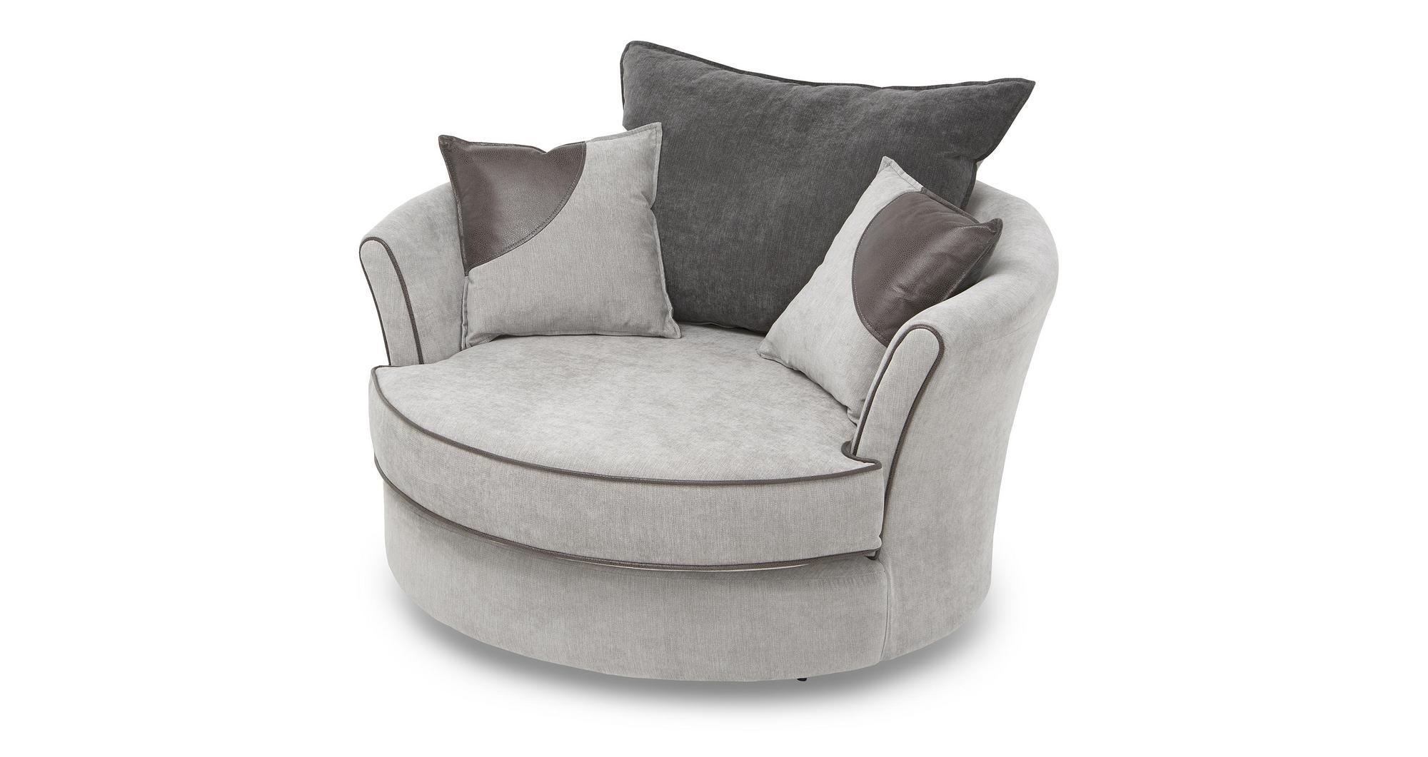 DFS Kynda Large Swivel Chair  Half Moon Footstool 58172