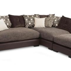 Corner Sofa And Swivel Chair Acrylic Legs Dfs Sinan Fabric Mocha Armchair