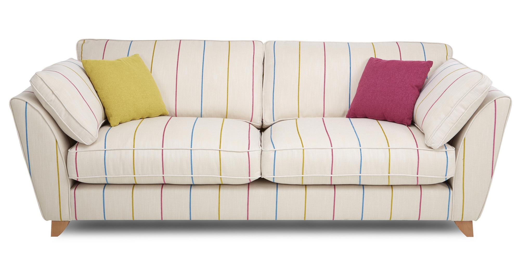 striped fabric sofas uk mayo sofa reviews dfs bude tutti frutti stripe 4 seater 78103