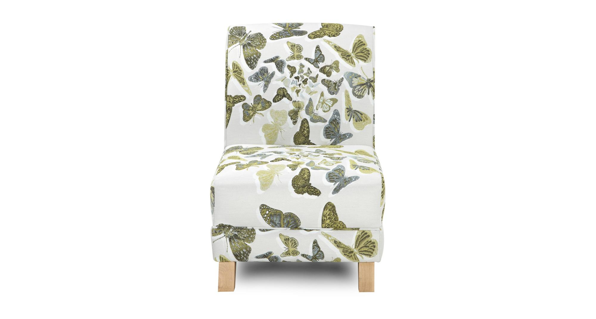 Lime Green Accent Chair Dfs Escape Lime Green Butterfly Fabric Accent Chair 83419