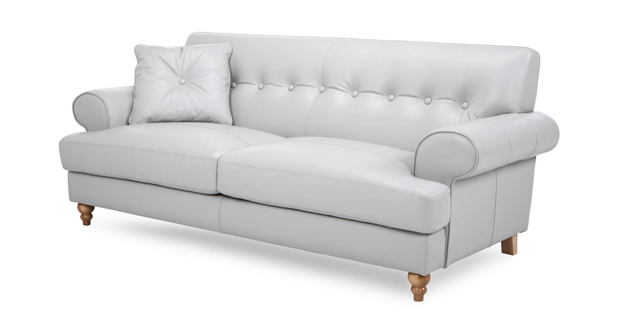 grey leather chesterfield sofa dfs reclining houston arcade 3 seater 85324 ebay