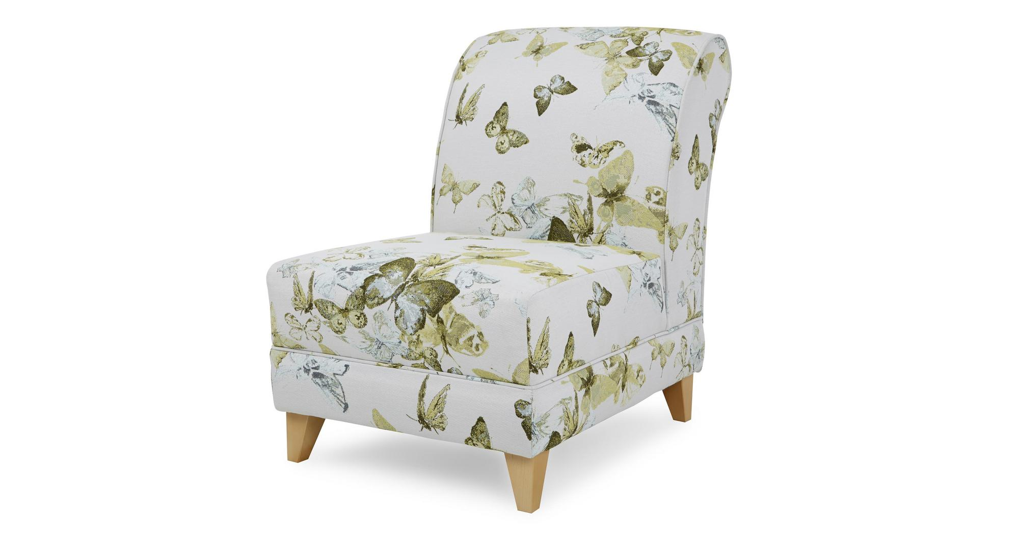 Lime Green Accent Chair Dfs Corinne Lime Green Fabric Patterned Accent Chair