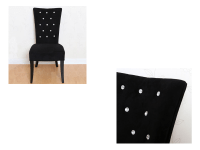 Radiance Black Velvet Dining Bedroom Hallway Chair ...