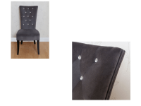 Radiance Charcoal Grey Velvet Dining Hallway Bedroom Chair ...