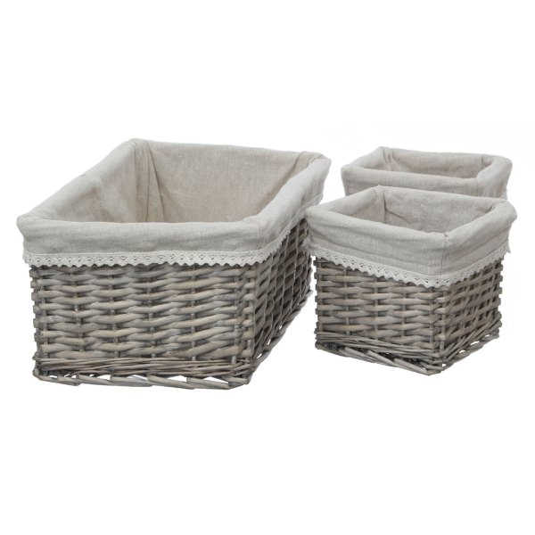 Fabric Baskets with Lining