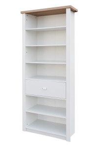 St Ives 6 Shelf Single Drawer Tall Slim Bookcase Storage
