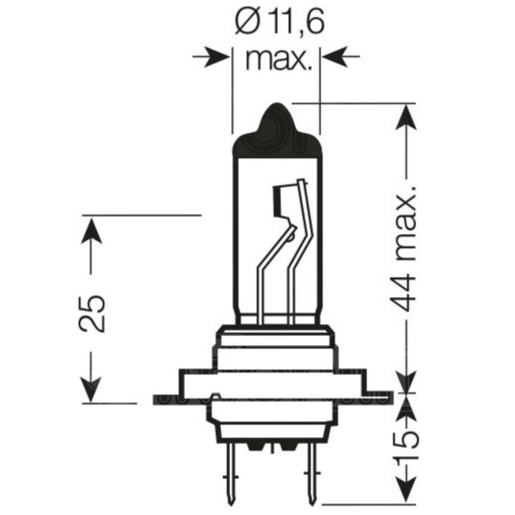 2 X H7 499 477 12v 55w Halogen Car Headlight Headlamp