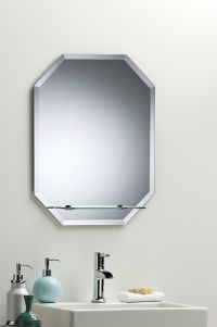 BATHROOM MIRROR Great Value OCTAGON WITH SHELF 60cm x 45cm ...