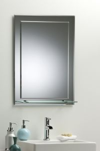 BATHROOM MIRROR ON MIRROR Elegant Rectangular WITH SHELF ...