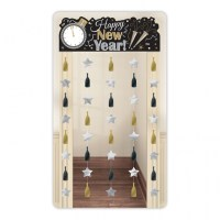 Large Happy New Year Door Curtain Banner Party Decoration ...