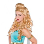 ladies blonde greek godess wig