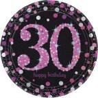 Party City 40th Birthday Plates