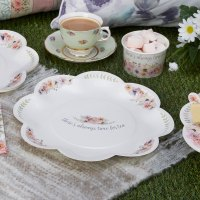8 x Vintage Style Tea Party Paper Plates Shabby Chic ...