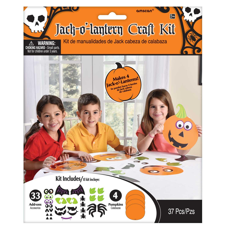 Jack O Lantern Halloween Kids Activity Pumpkin Faces Decorating Child Craft Kit