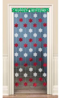 Christmas Snowflake Door Curtain Decoration hanging ...