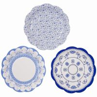 12 x Vintage Style Afternoon Tea Party paper Plates Shabby ...
