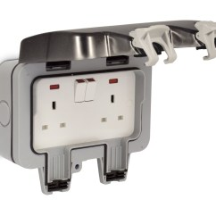 2 Gang Cooker Switch Wiring Diagram 4 Wire Photoelectric Smoke Detector Bg Nexus Twin 13a Dp Switched Double Socket Outdoor