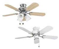 "Fantasia Capri Ceiling Fans 36"" White Stainless Steel ..."