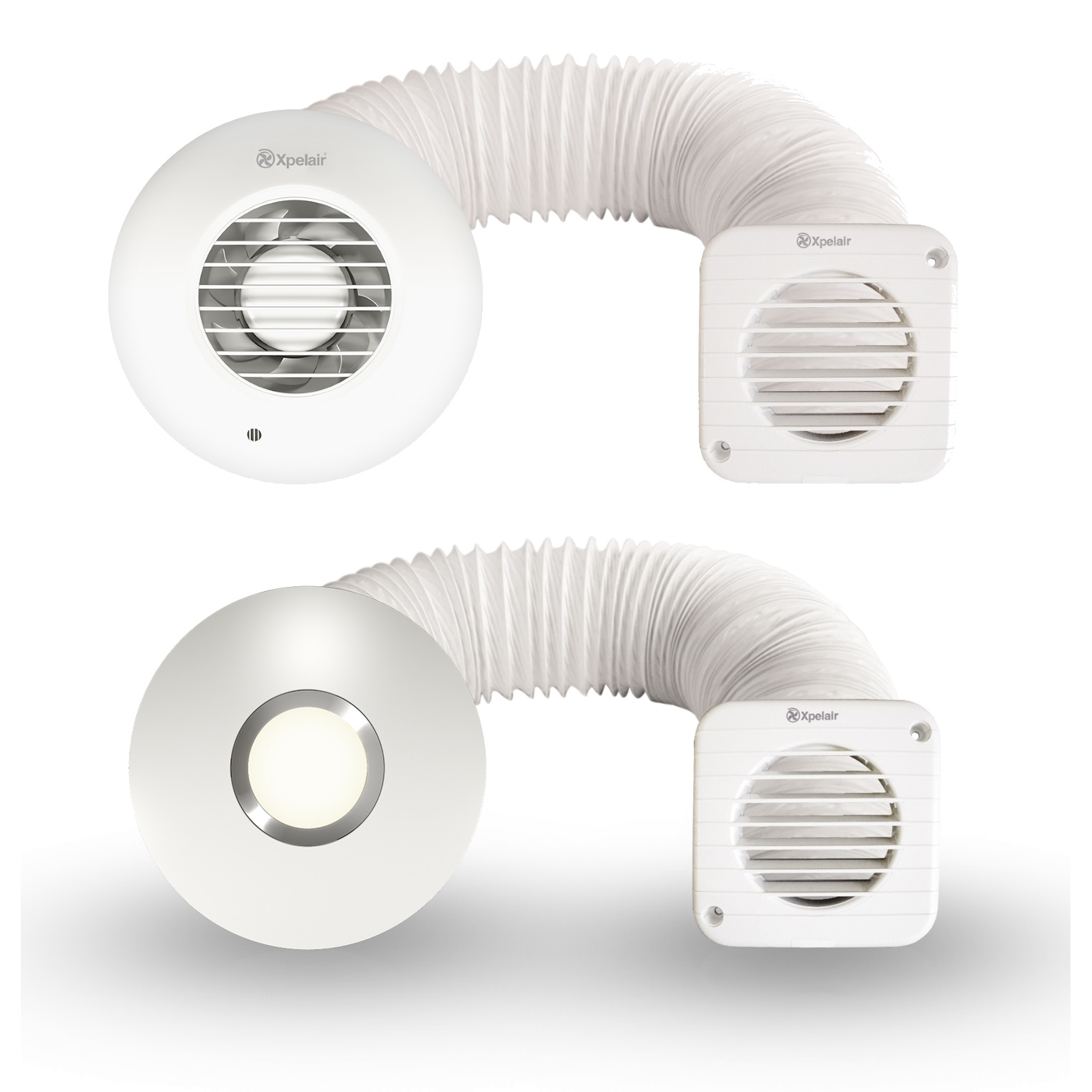 Xpelair Simply Silent Shower Fan Complete Optional Light