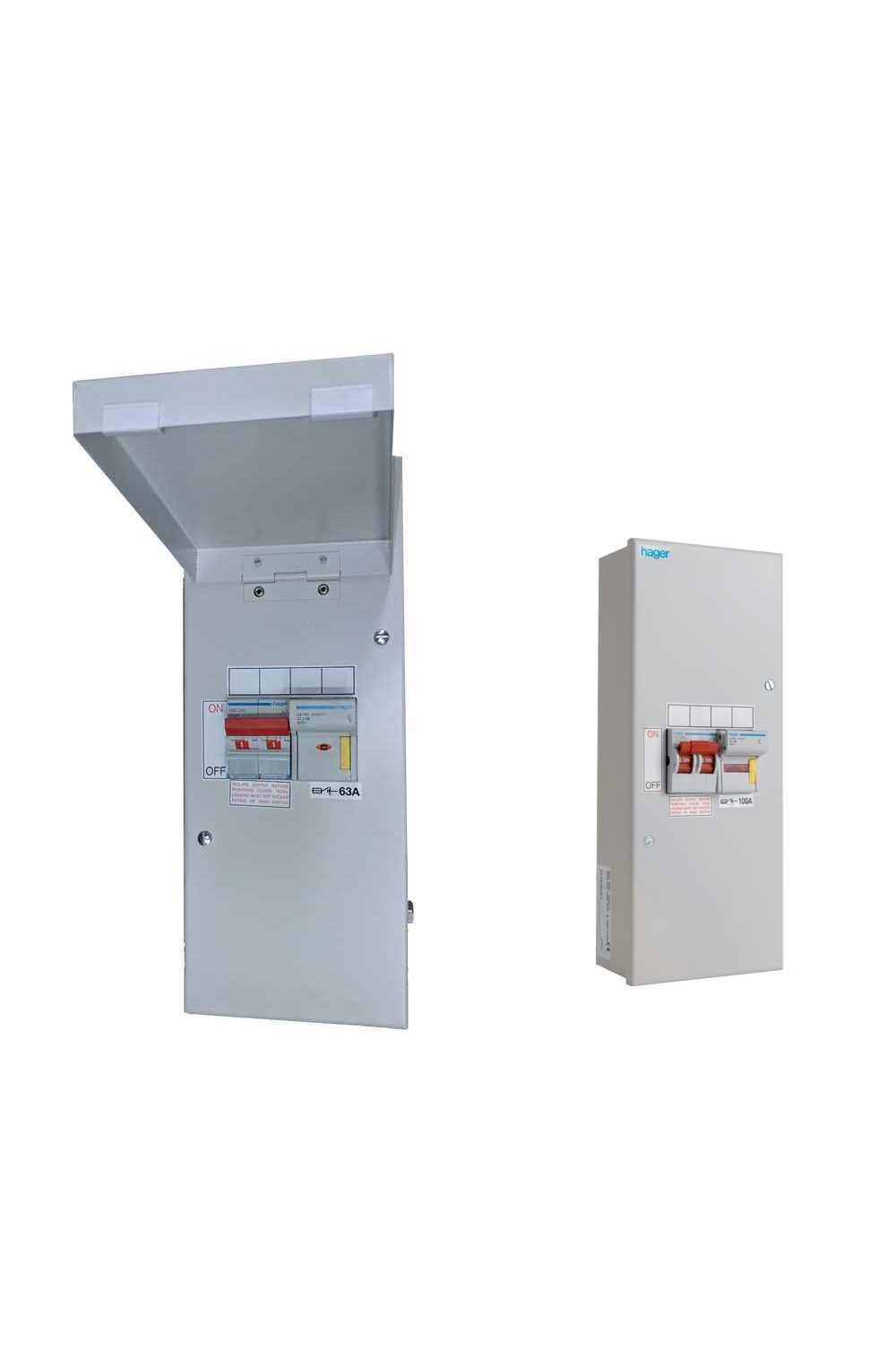 medium resolution of hager d10 enclosed switch fuses 63a 80a or 100a with or without door hager fuse box door