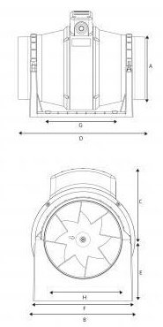 Vent Axia ACM100 In-line Mixed Flow Bathroom Extractor Fan