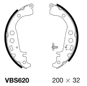 REAR BRAKE SHOW SET SHU592 FOR TOYOTA YARIS VITZ VERSO 1.0
