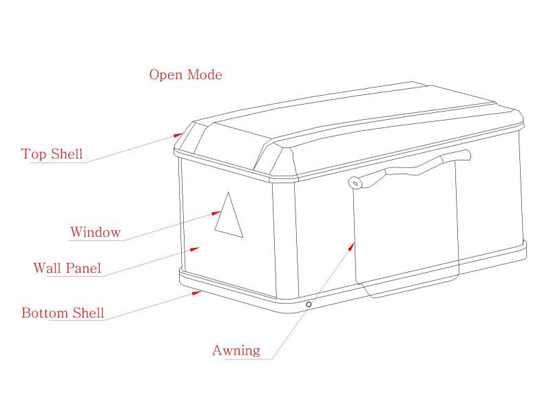 Isuzu D-Max 07-12 2 Man Hard Shell Roof Tent Waterproof PU
